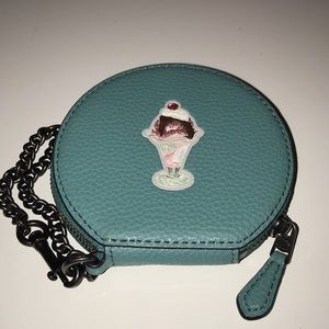 Coach ice cream coin purse
